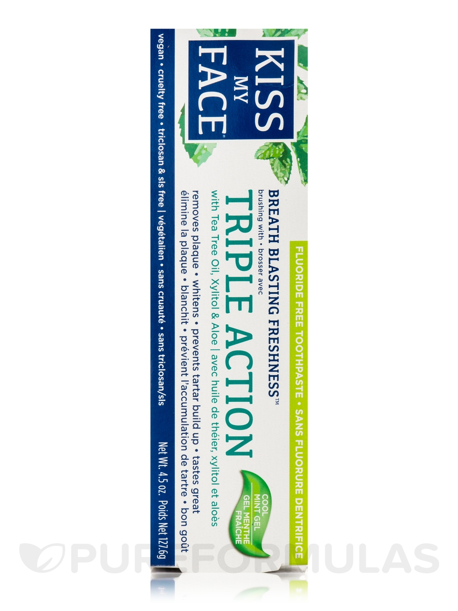 Triple Action Toothpaste, Kiss My Face, oz, With Tea Tree Oil See more like this. SPONSORED. Kiss My Face Tthpaste Trpl Action, PartNo , by Kiss My Face, Single Unit. Brand New. Kiss My Face Toothpaste Triple Action Cool Mint Gel Ounce (ml) (2 Pack) See more like this.