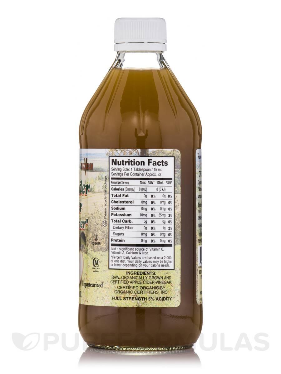 Organic Apple Cider Vinegar With Mother 16 Fl Oz 473 Ml
