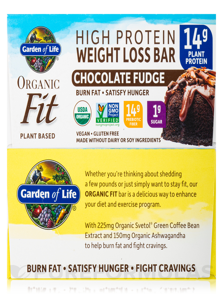 Organic Fit High Protein Weight Loss Bar Chocolate Fudge Box Of 12 Bars 1 9 Oz 55 Grams Each
