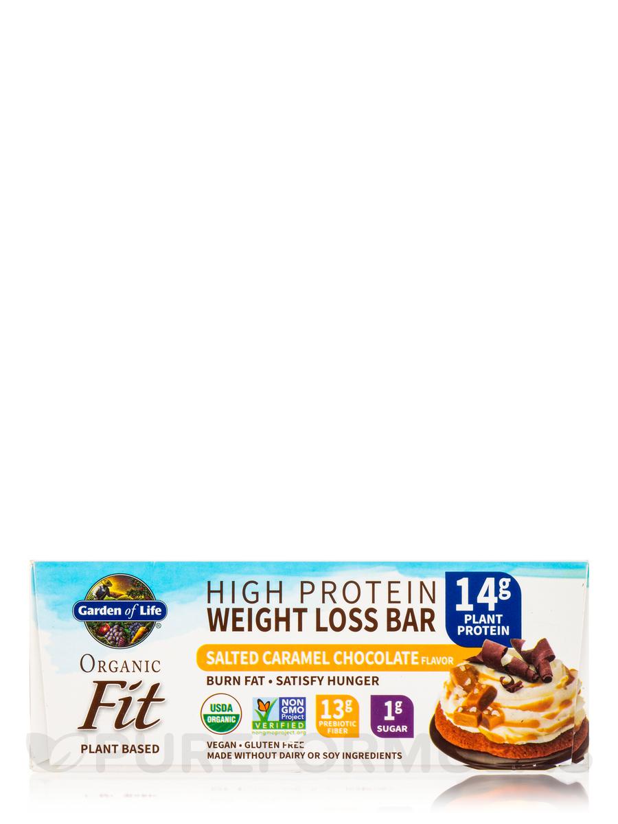 Organic Fit High Protein Weight Loss Bar Sea Salt Caramel Box Of 12 Bars 1 9 Oz 55 Grams Each