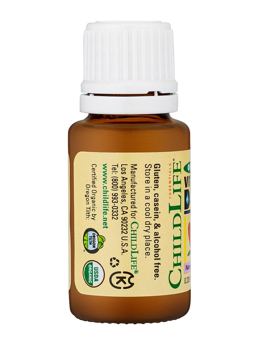 Organic Vitamin D3 For Babies Infants 0338 Fl Oz 10 Ml