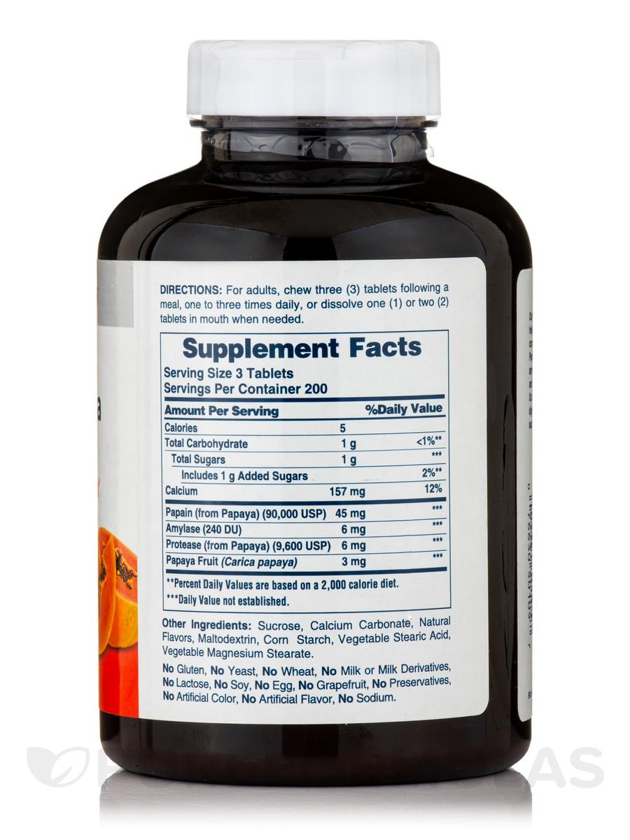 Original papaya enzyme 600 chewable tablets