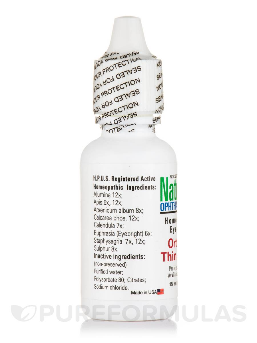 Ortho-K Thin (Daytime) Homeopathic Eye Drops - 0 5 fl  oz (15 ml)