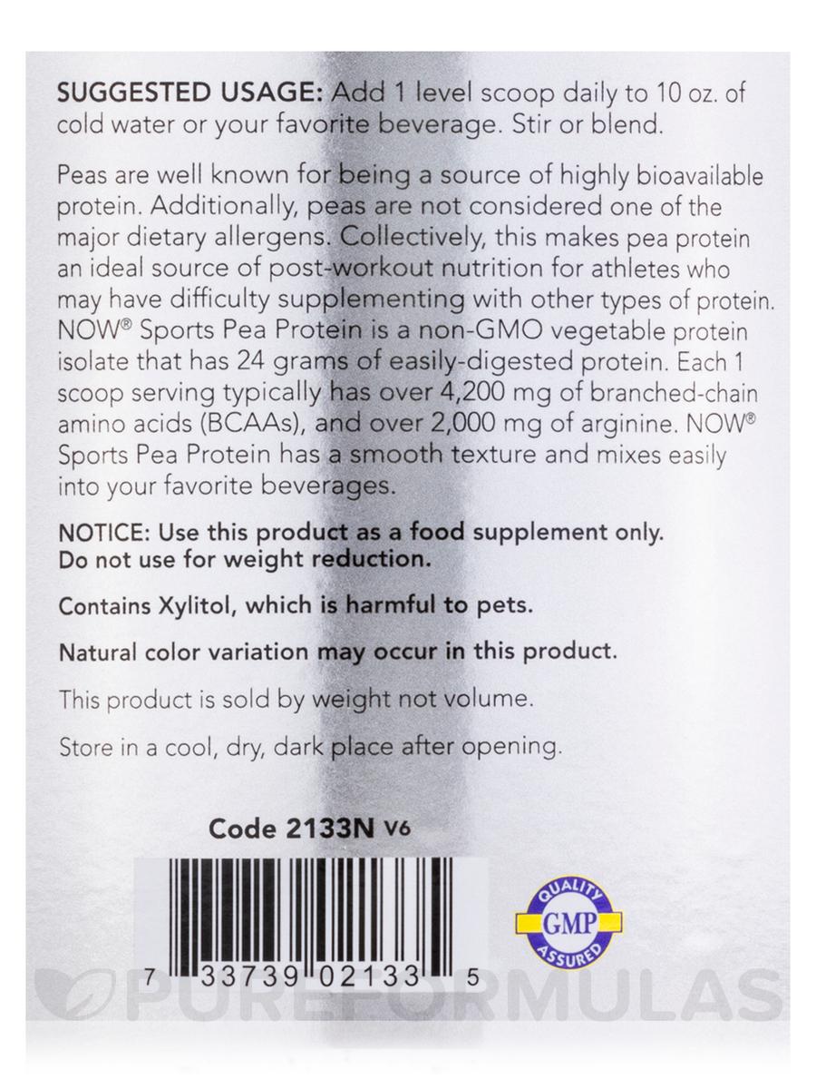 Sports - Pea Protein, Dutch Chocolate - 2 lbs (907 Grams)