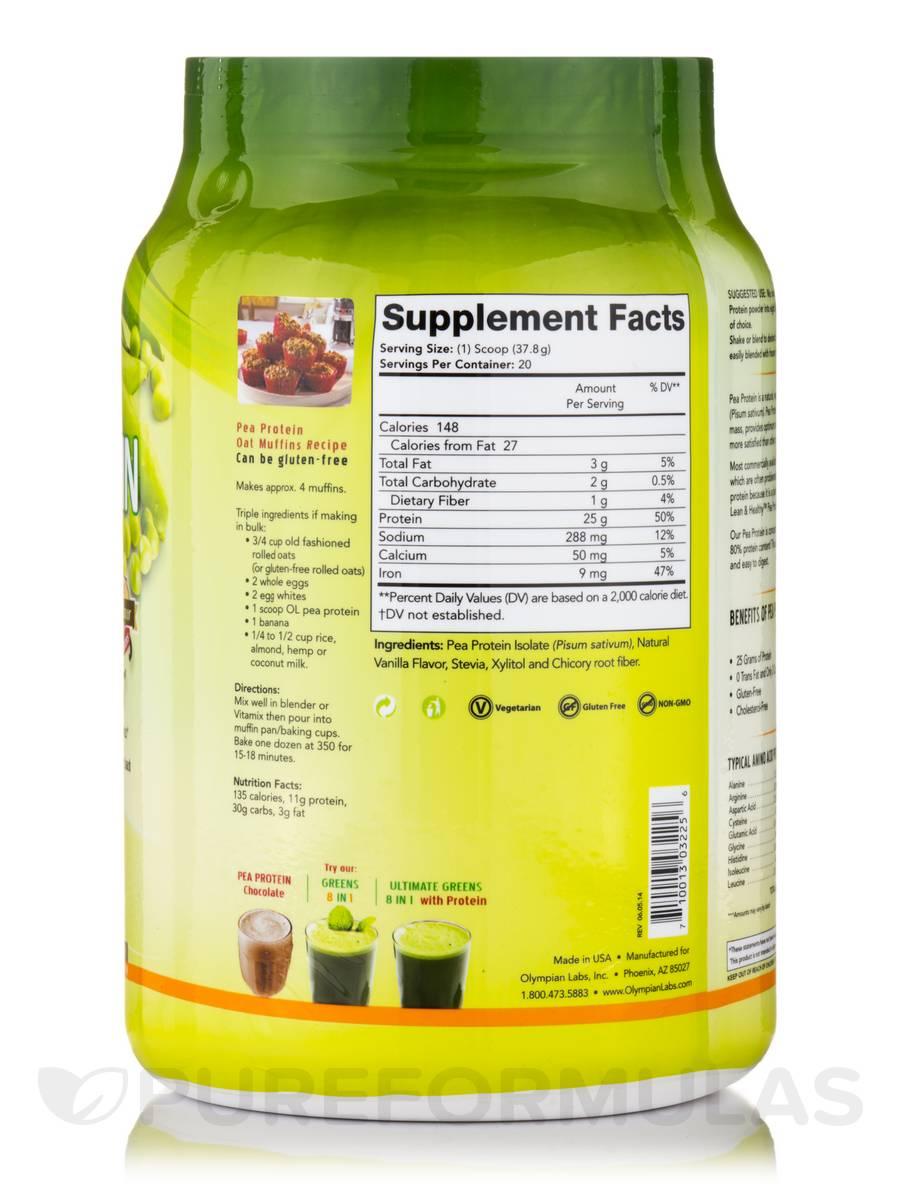 Pea protein taste