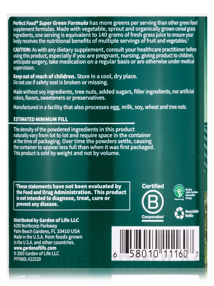 Food Super Green Formula 2116 oz 600 Grams