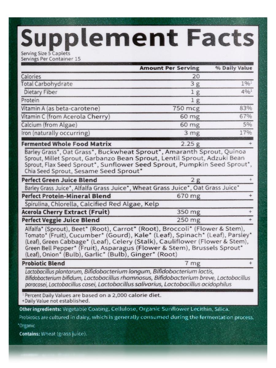 Food Super Green Formula 75 Vegetarian Caplets