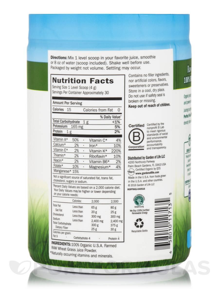 Raw Organic Perfect Food® 100% Organic Wheat Grass Juice ...