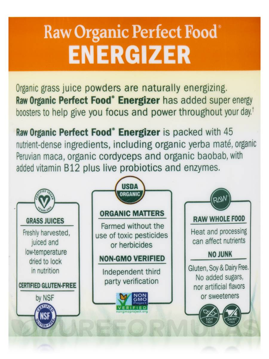 Raw Organic Perfect Food® Energizer Juiced Green Superfood ...
