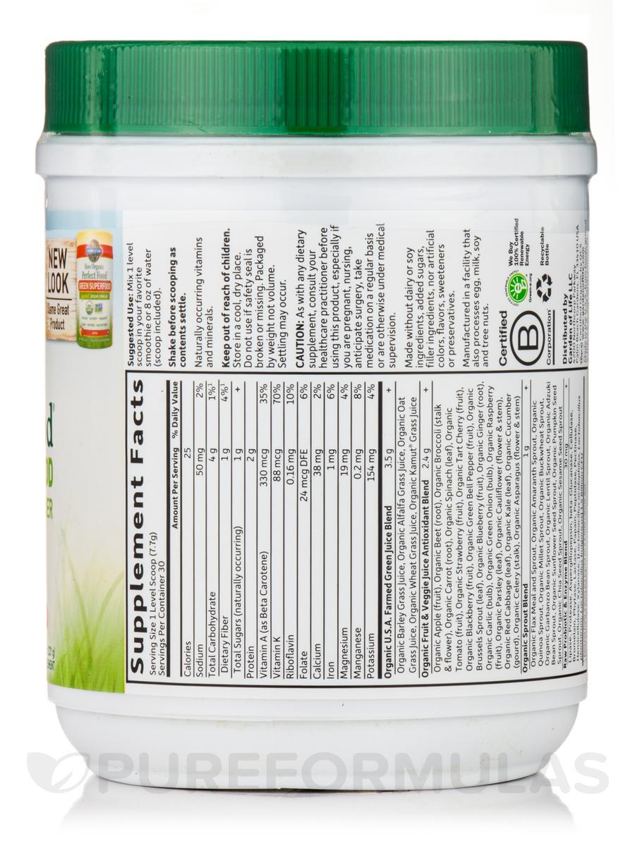 raw organic perfect food green superfood powder apple flavor 82 oz 234 grams - Garden Of Life Perfect Food