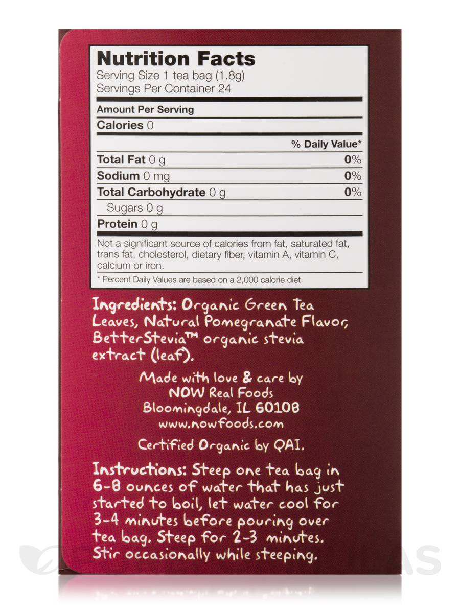 NOW® Real Tea - Pomegreenate Tea Bags