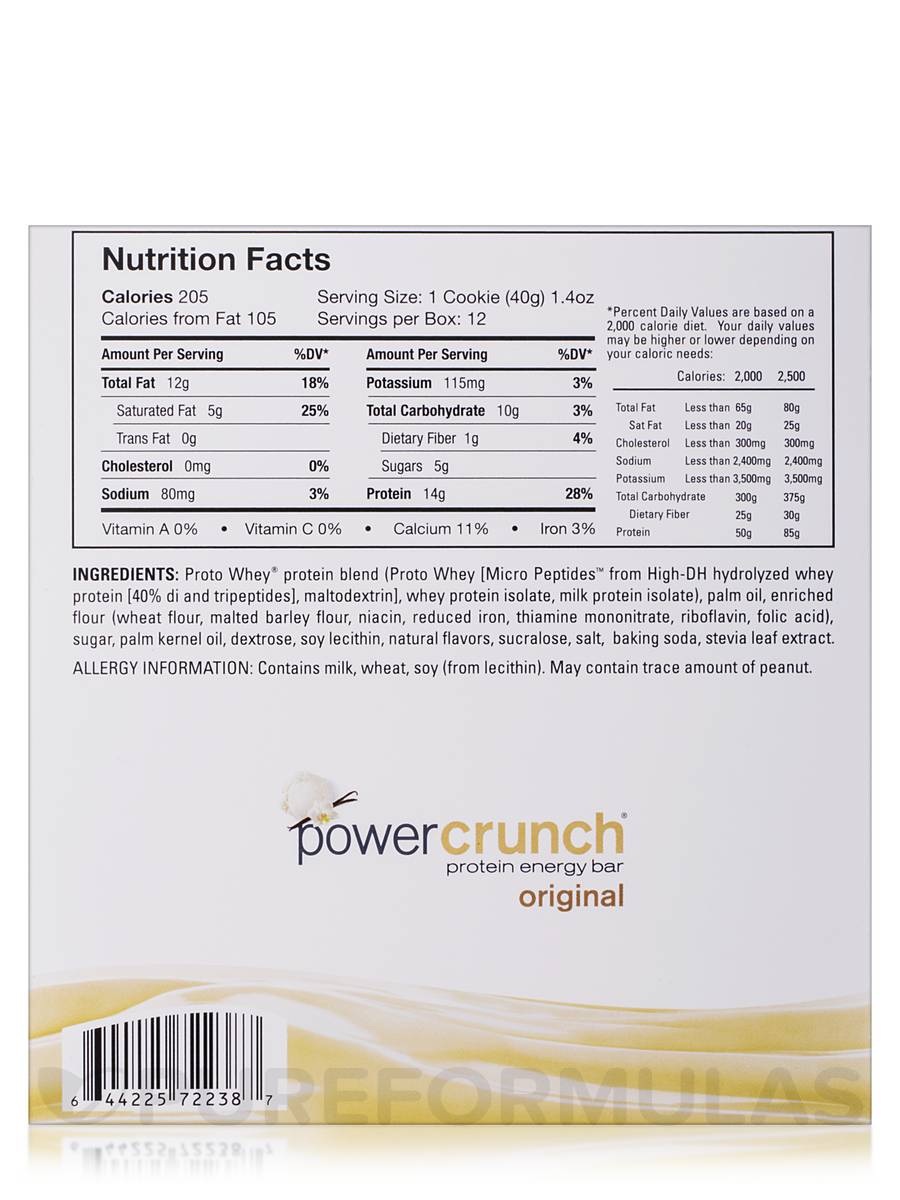 Powdered Peanut Butter Nutrition