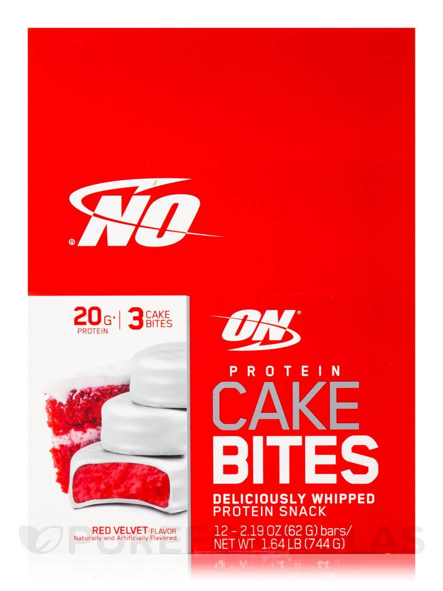 Protein Cake Bites Red Velvet Flavor Box Of 12 Bars 2