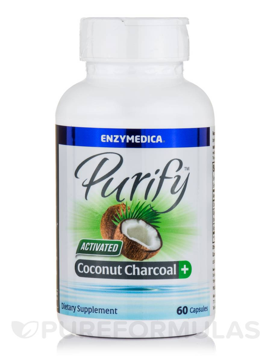 Purify Activated Coconut Charcoal Plus 60 Capsules