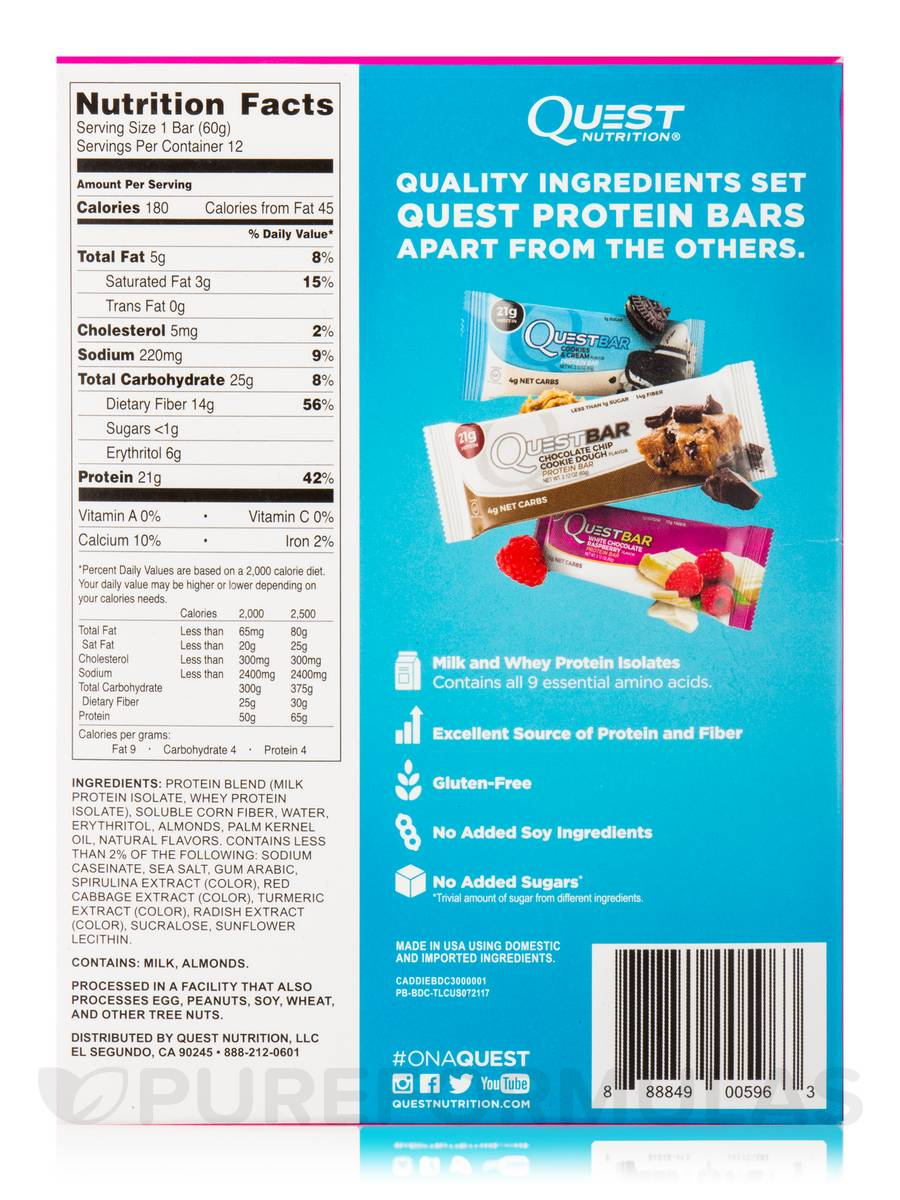Quest Bar Birthday Cake Flavor Protein Bar Box Of 12 Bars 212