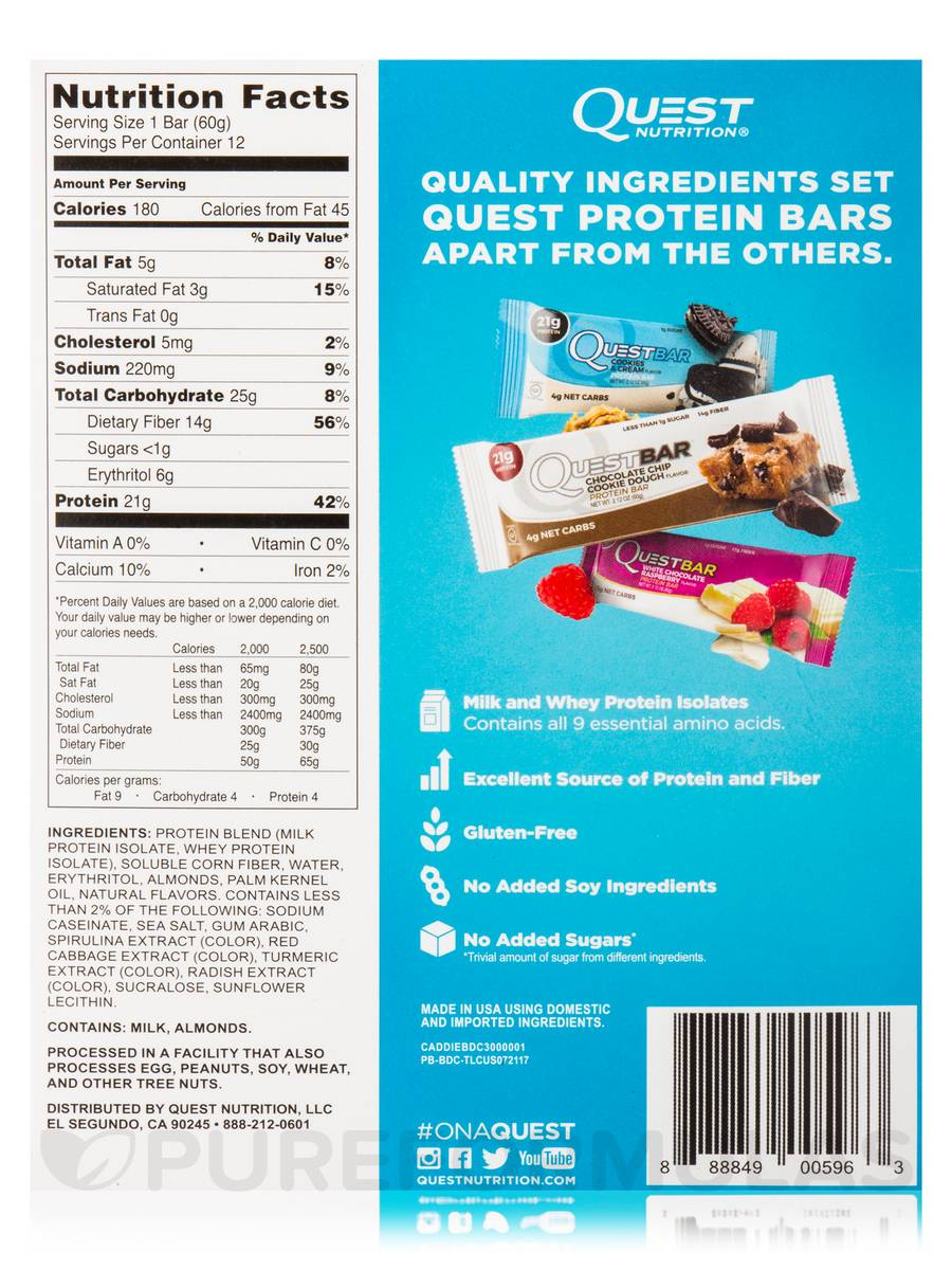 Quest BarR Birthday Cake Flavor Protein Bar