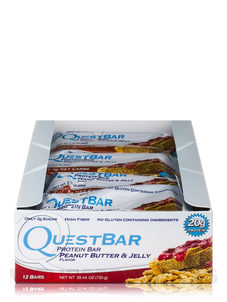 Quest Bar® Peanut Butter & Jelly Flavor Protein Bar - Box ...