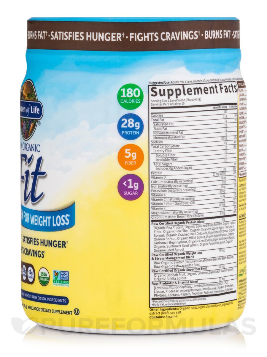 raw organic fit high protein powder chocolate 16 oz 450 grams