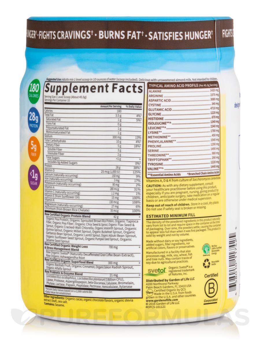 Organic Fit High Protein Powder Chocolate 16 oz 450 Grams