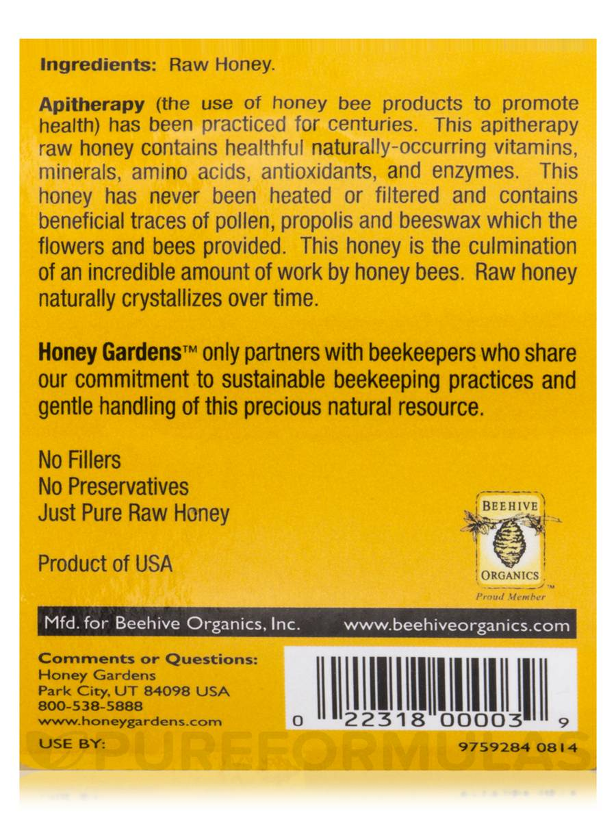 Apitherapy Raw Honey (U S  Grade A) - 32 oz (908 Grams)