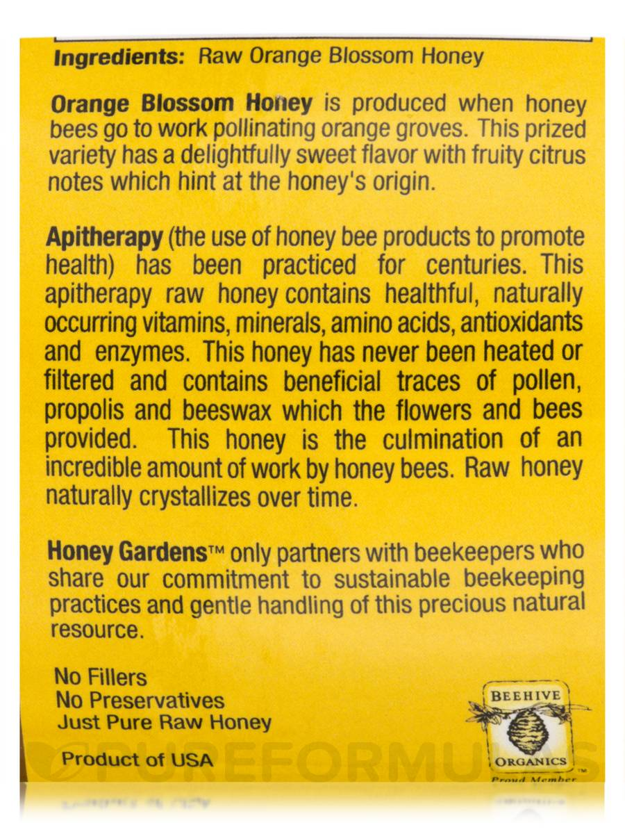 Raw Honey Orange Blossom - 16 oz (454 Grams)