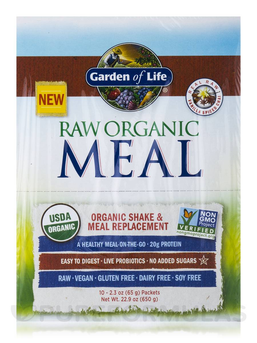 Raw Meal Vanilla Spiced Chai Box Of 10 Packets