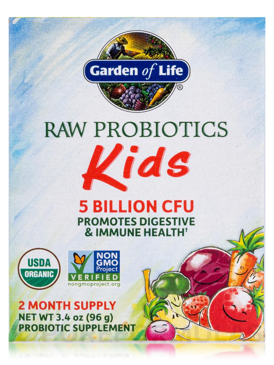 Raw Organic Probiotic Kids Powder 3 4 Oz 96 Grams
