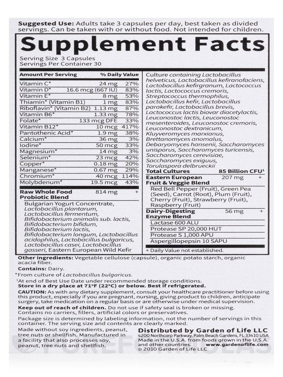 raw probiotics men 50 u0026 wiser 90 vegetarian capsules
