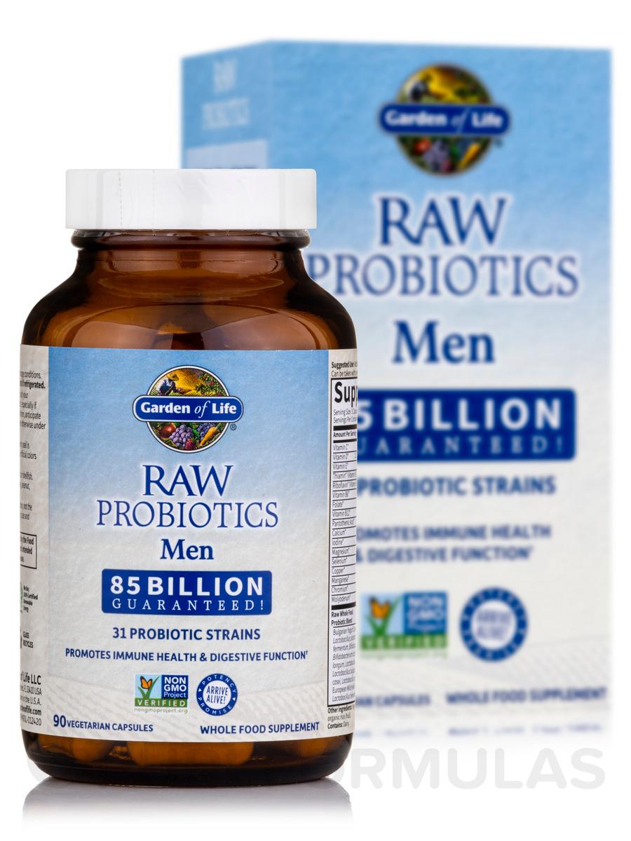 Raw probiotics men 90 vegetarian capsules for Garden of life probiotics review