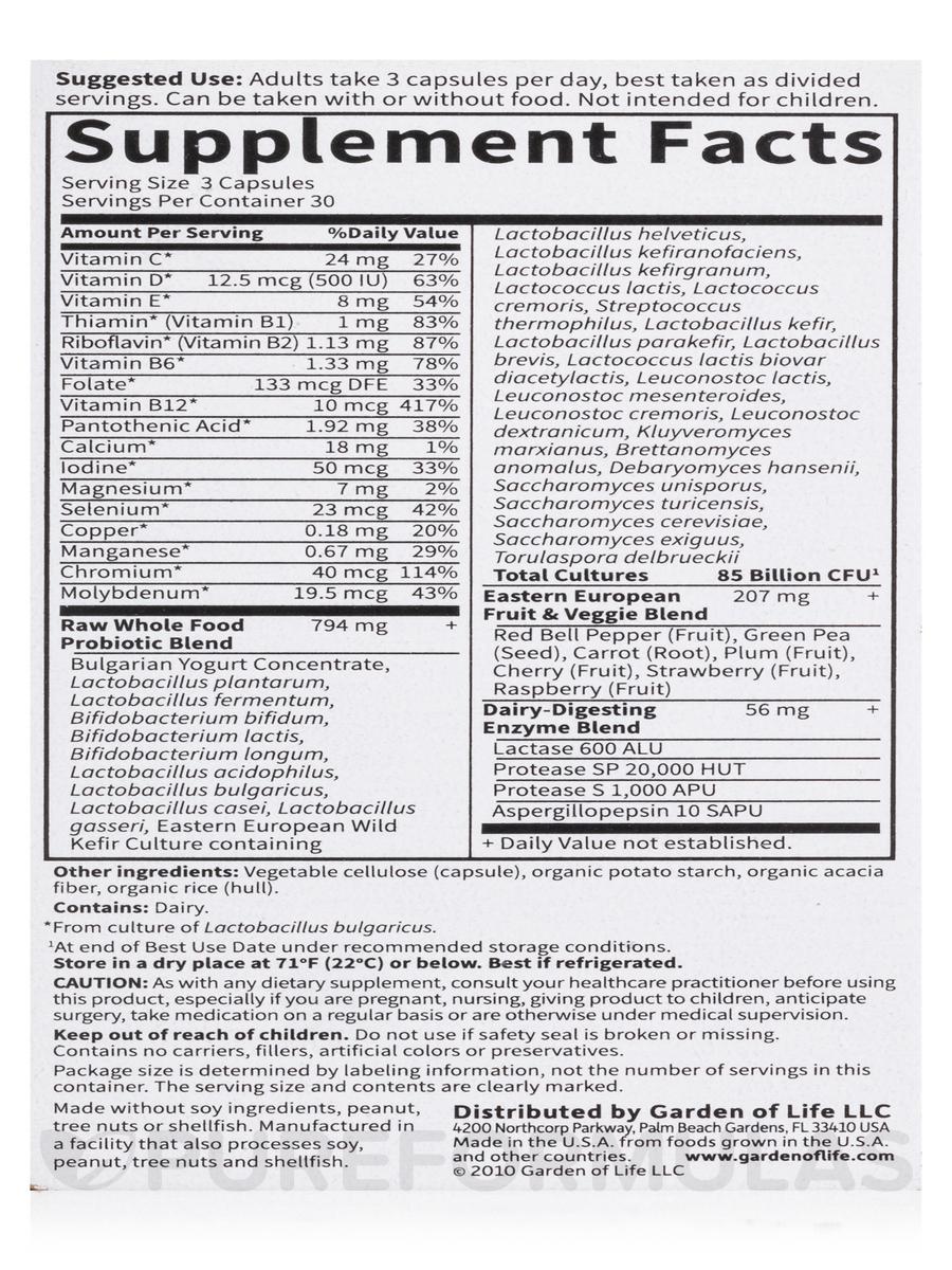 raw probiotics men 90 vegetarian capsules