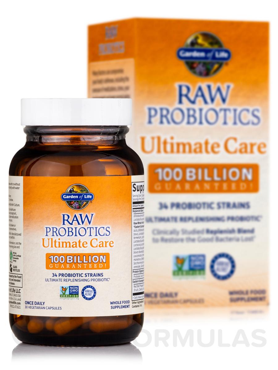 garden of eden probiotics. RAW Probiotics™ Ultimate Care 100 Billion - 30 Vegetarian Capsules Garden Of Eden Probiotics