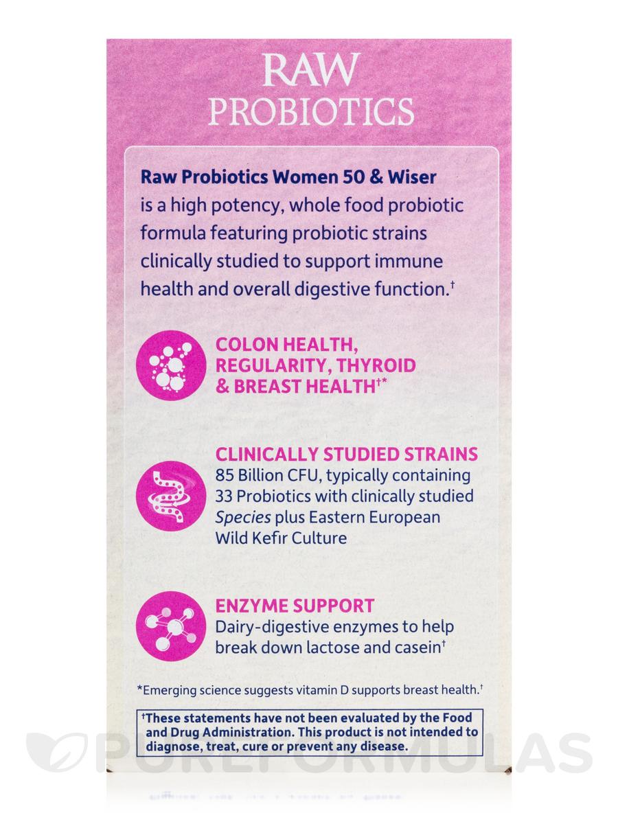 Raw Probiotics Women 50 Wiser 90 Vegetarian Capsules