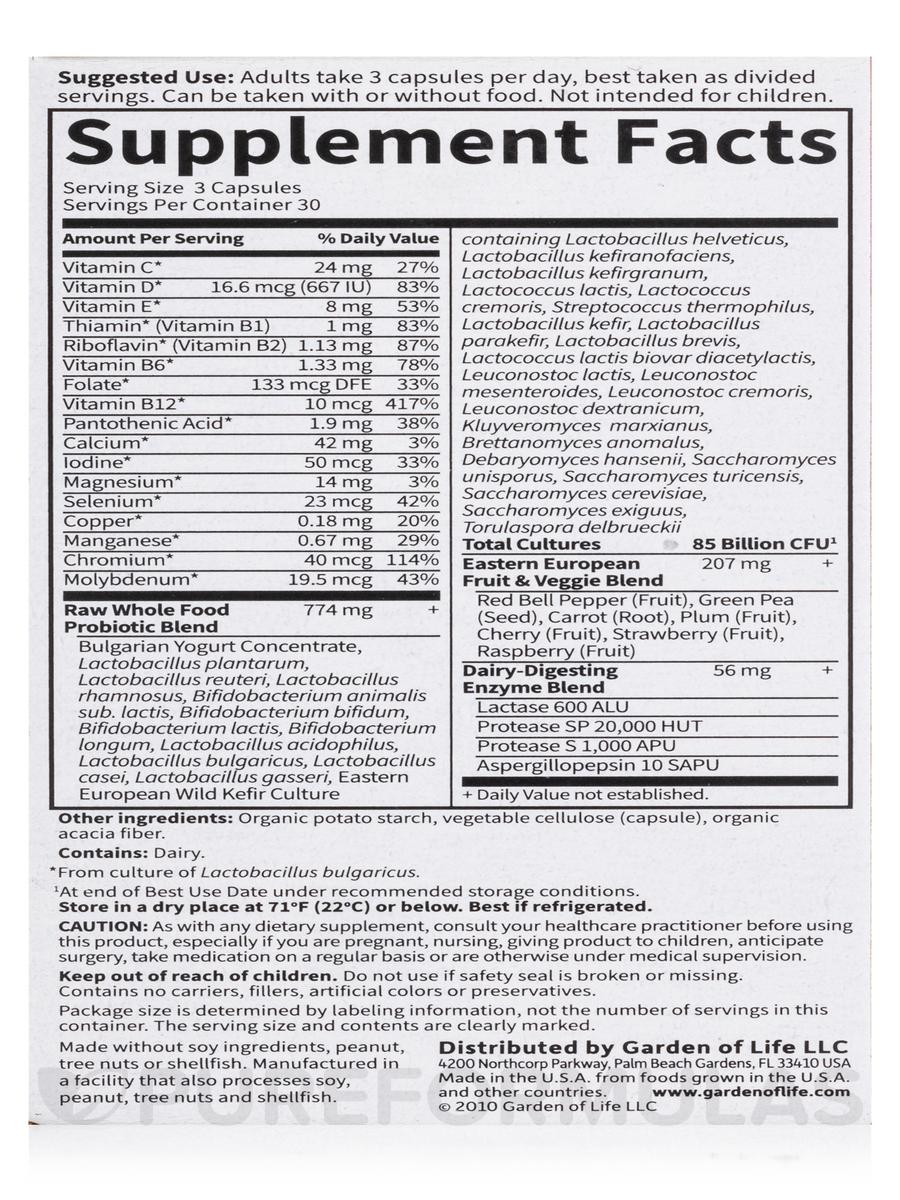 raw probiotics women 50 u0026 wiser 90 vegetarian capsules