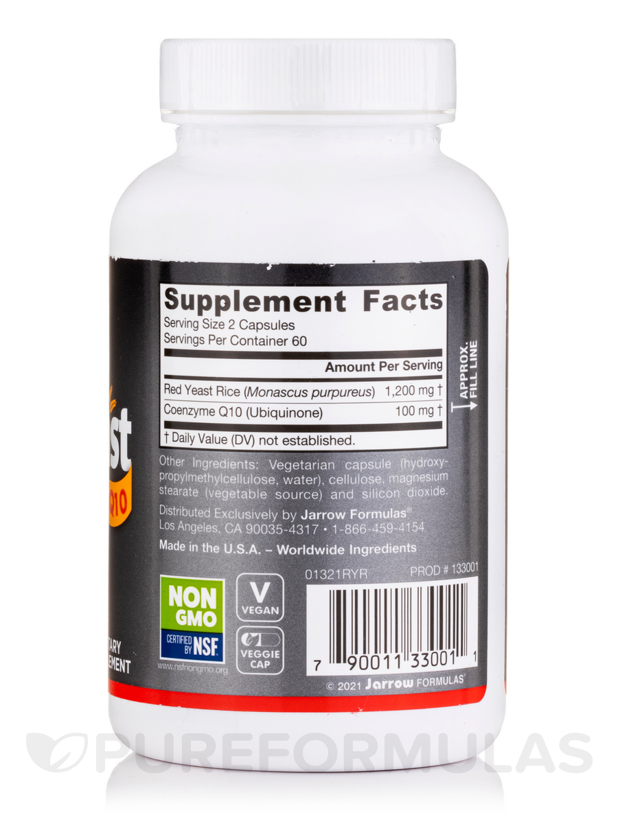 Red Yeast Rice Coq10 120 Capsules By Jarrow Formulas