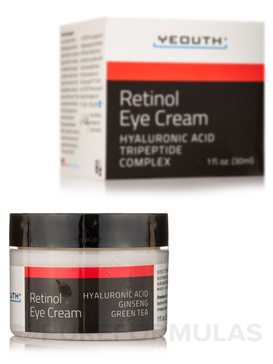 Retinol Eye Cream With Hyaluronic Acid Caffeine Green Tea 1 Fl