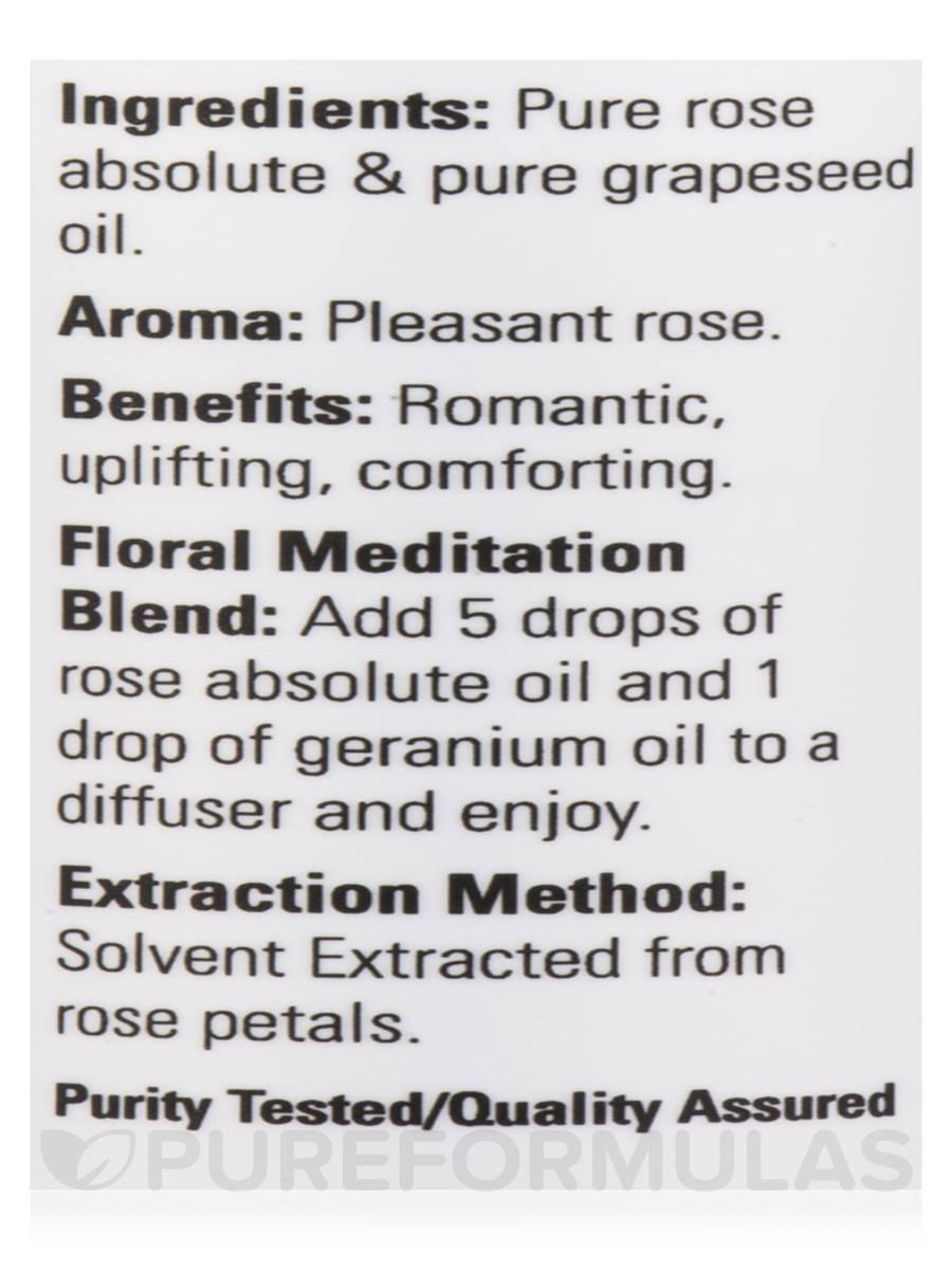 Now essential oils rose absolute oil 1 fl oz 30 ml mightylinksfo