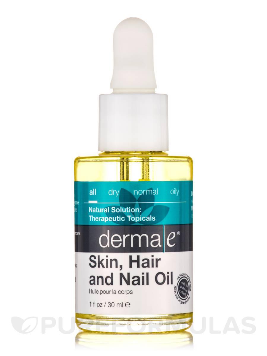 Skin Hair and Nail Oil with Organic Argan and Jojoba Oils Plus Kukui ...