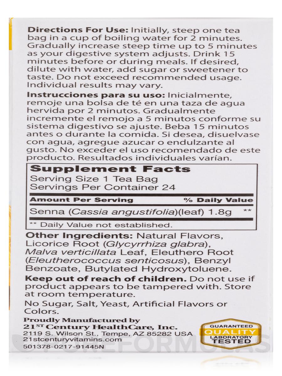 Herbal Slimming Tea, Honey Lemon - 24 Tea Bags