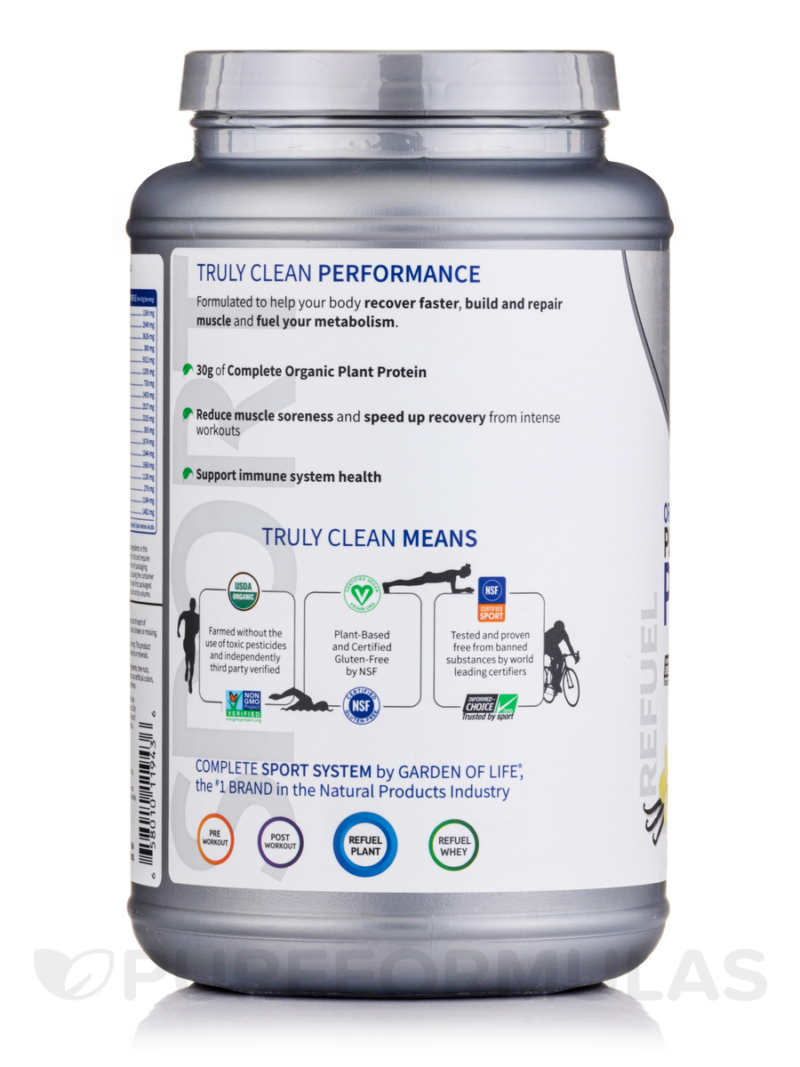 Sport organic plant based protein vanilla 28 4 oz 1 lb - Garden of life plant based protein powder ...