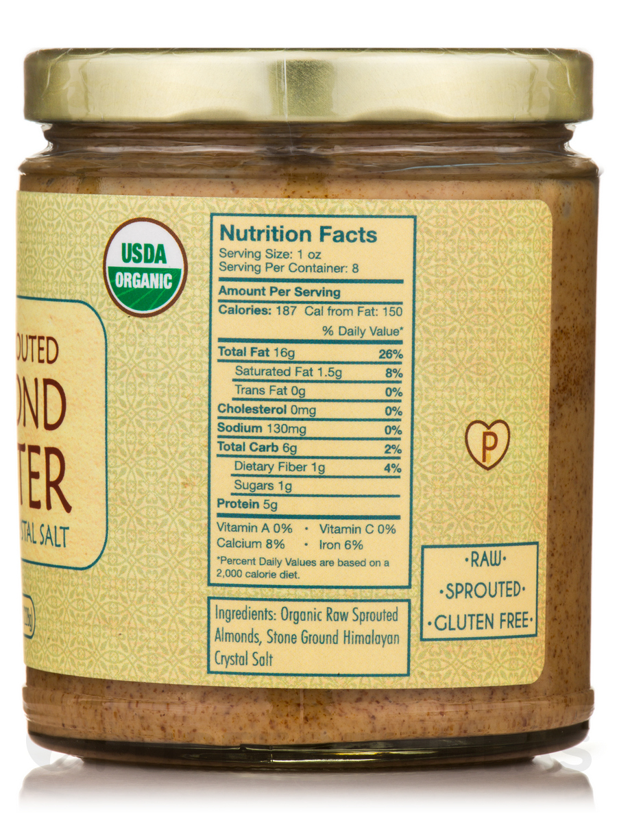 Sprouted Organic Raw Almond Butter