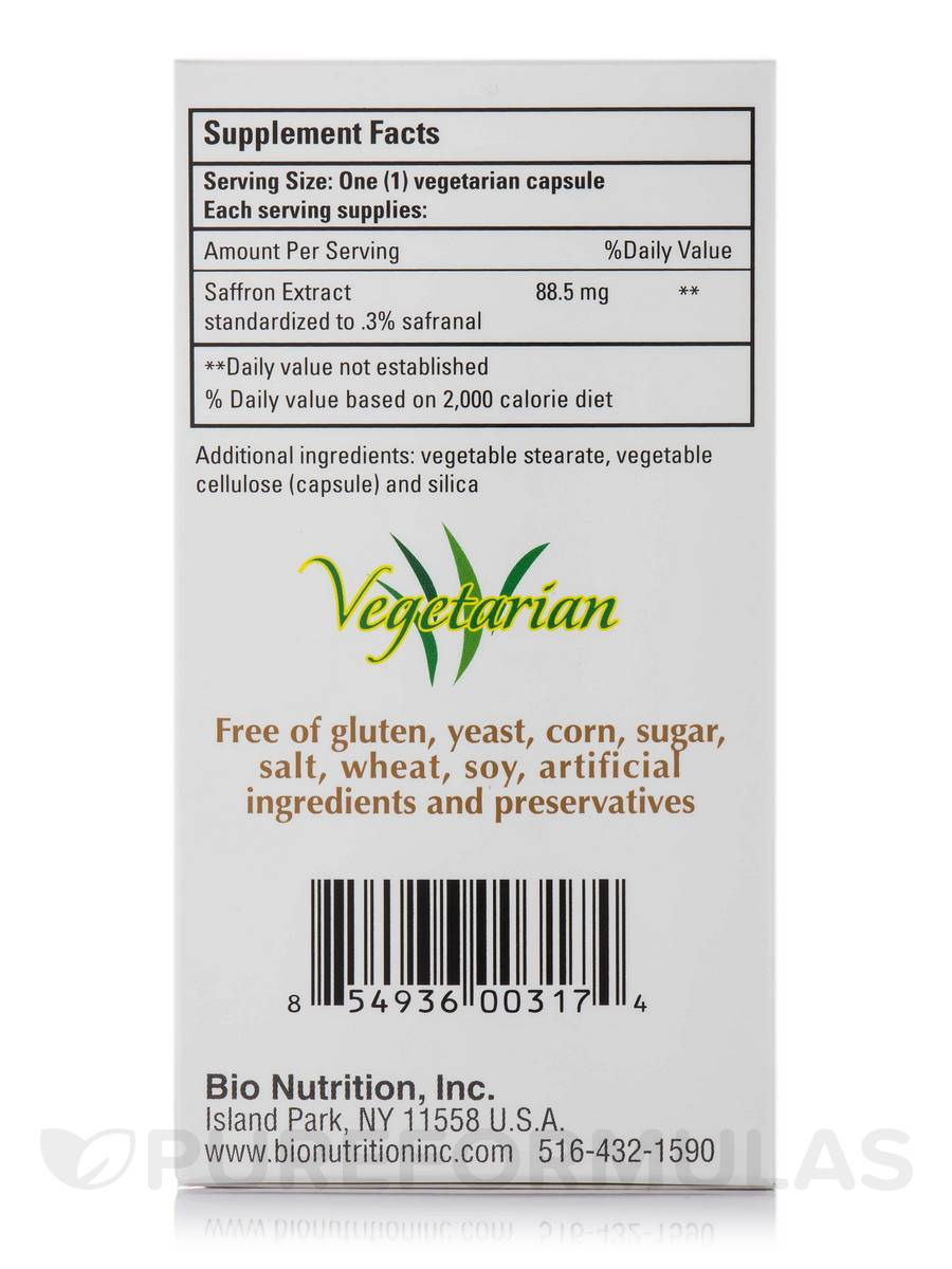Saffron Extract 50 Vegetarian Capsules
