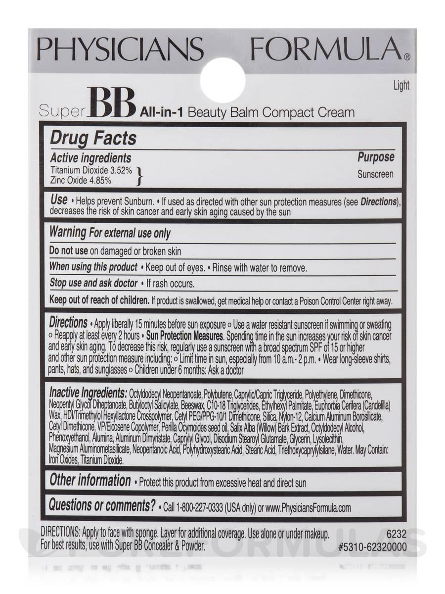 Super BB All-in-1 Beauty Balm Compact Cream SPF 30, Light - 0.28 oz (8 ...