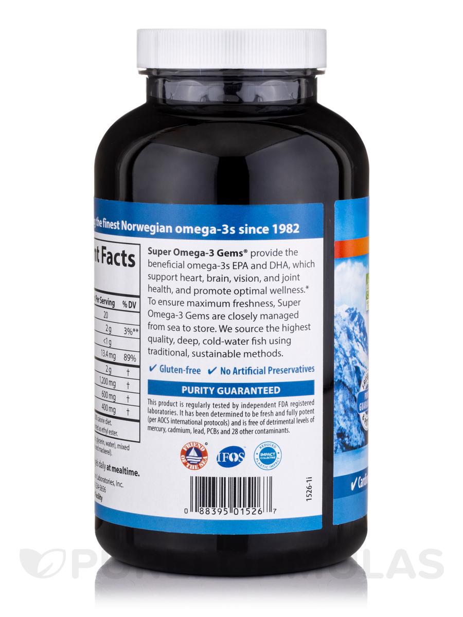 Super omega 3 gems fish oil concentrate 1000 mg 180 for Super omega 3 fish oil