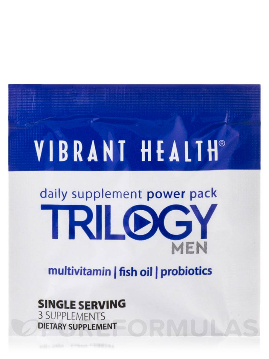 Trilogy men packets multivitamin fish oil probiotics for Multivitamin with fish oil