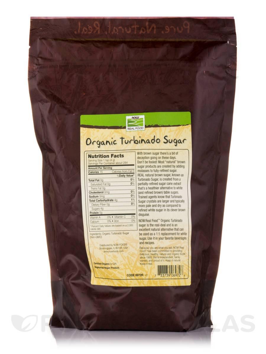 NOW Real Food® - Turbinado Sugar (Certified Organic) - 2.5 lbs (1134 Grams)