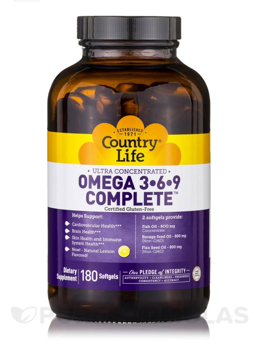 Ultra Omega 3 6 9 Complete 180 Softgels