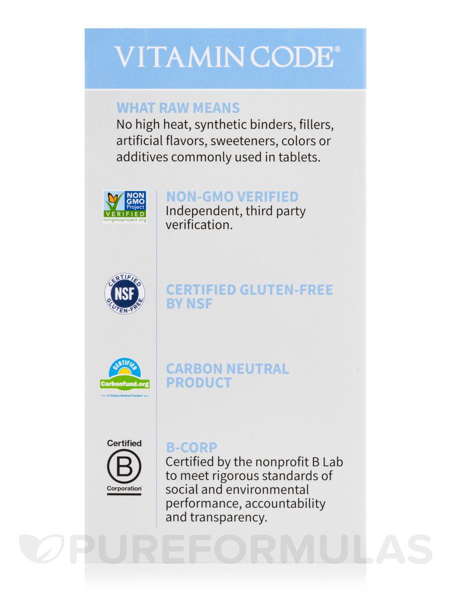Vitamin code 50 wiser men 240 vegetarian capsules - Garden of life raw probiotics men ...