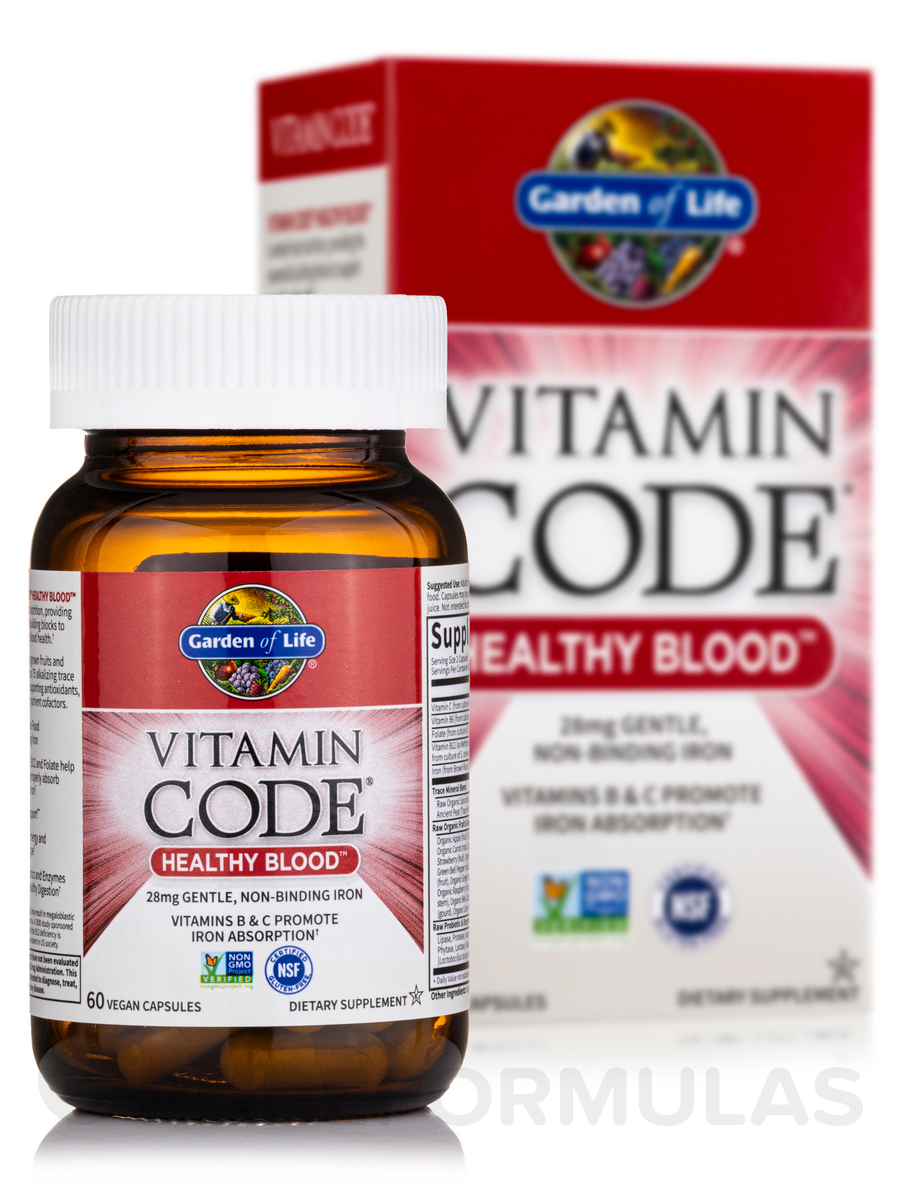 vitamin code healthy blood 60 vegan capsules - Garden Of Life Vitamins