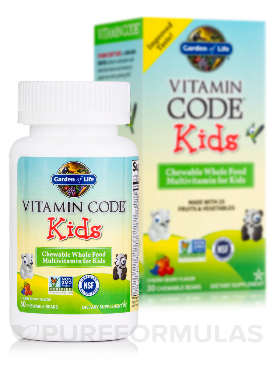 Vitamin code kids 30 chewable bears - Garden of life vitamin code kids ...