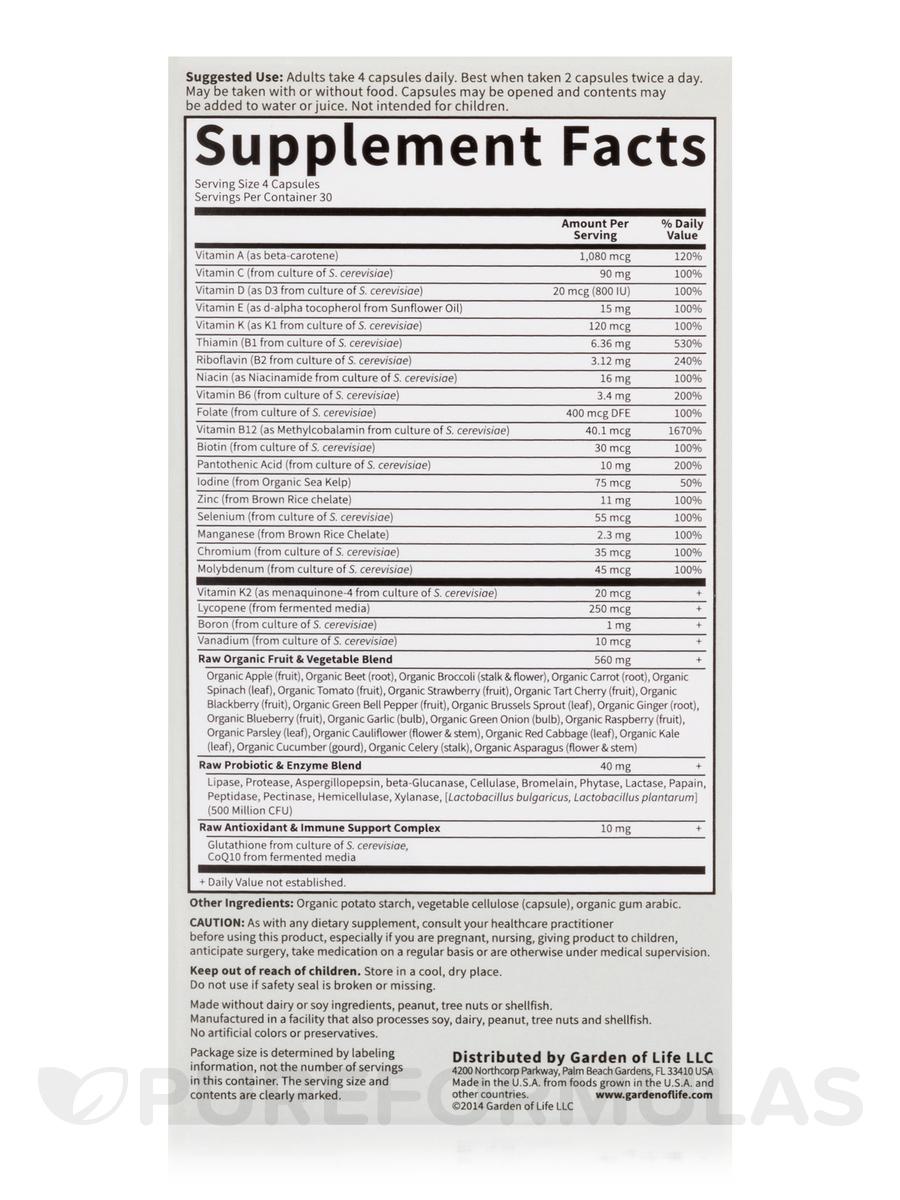 Vitamin Code®   Menu0027s Multi   120 Vegetarian Capsules